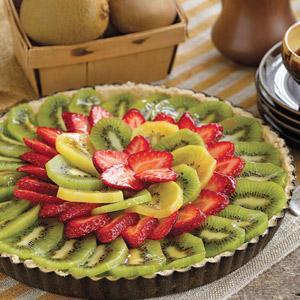 Glazed Kiwi Fruit Tart