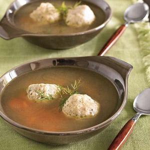Chicken Soup with Dilled Matzo Balls