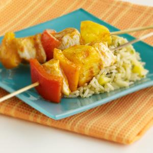 Chicken, Pepper & Pineapple Kabobs