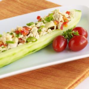 Red Pepper Tuna Salad Boats