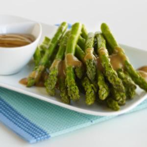 Roasted Asparagus with Asian Peanut Sauce