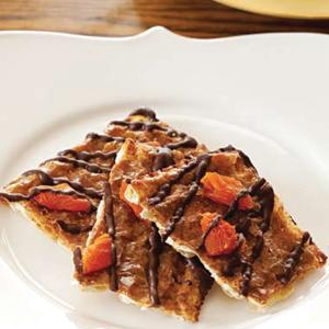 Chocolate Apricot Matzo Crunch with Cinnamon Caramel