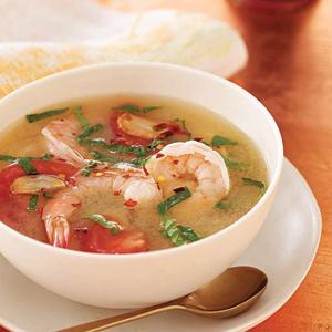 Somlah Machou (Sour Soup with Shrimp)