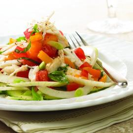 Vidalia Onion, Lump Blue Crabmeat & Tomato Salad