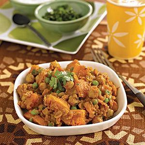 Sweet Potato and Garbanzo Bean Curry