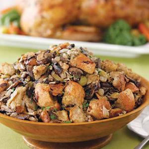 Baked Stuffing with Many Mushrooms