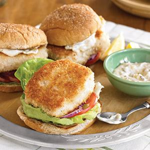 """""""Fried"""" Fish Sandwiches"""