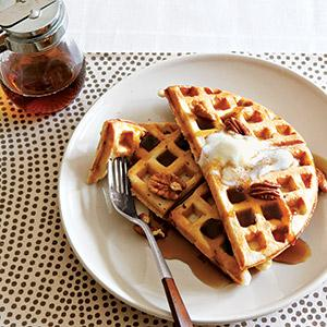 Honey Pecan Raised Waffles