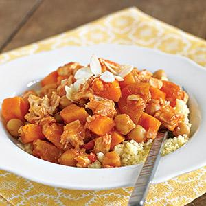 Moroccan Chicken Stew with Apricots