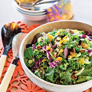 Grains and Greens with Apricot Citrus Vinaigrette