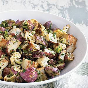 Roasted Potato Salad with Lemon-mustard Dressing