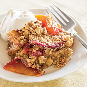 Peach and Plum Crisp