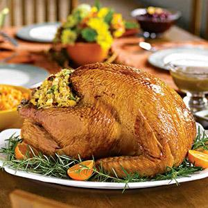 Roast Turkey with Dried Fruit-Cornbread Stuffing