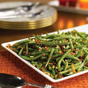 Smoky Green Beans with Pine Nuts