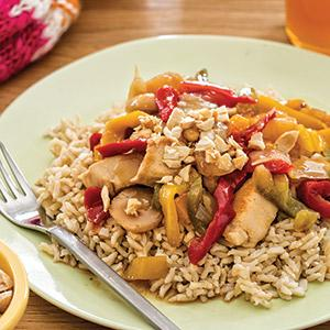 Teriyaki Chicken with Rice and Bell Peppers
