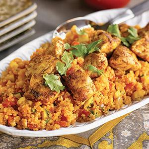 Moroccan Chicken with Golden Couscous