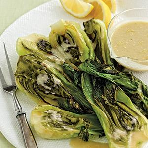 Roasted Bok Choy with Miso-Lemon Vinaigrette