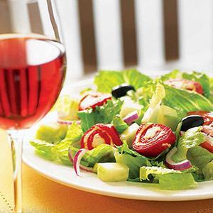 Greek-inspired Salad With Feta Pinwheels
