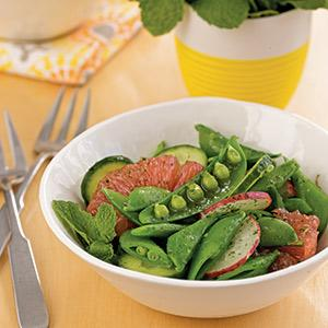 Sugar Snap Pea Salad with Mint Dressing