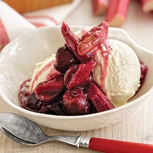 Rhubarb-Cherry Compote