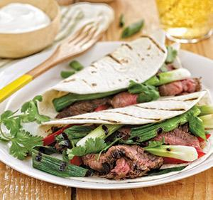 Steak Fajitas with Seared Scallions
