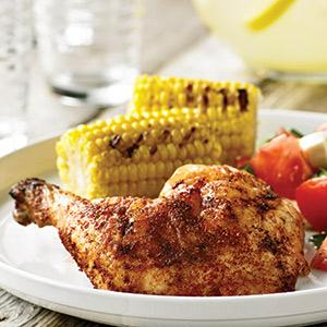 Smoky Grill-Roasted Beer Can Chicken