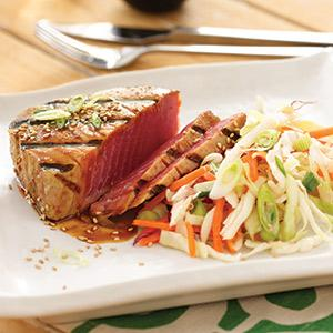 Hoisin Tuna with Asian Slaw
