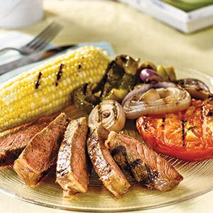 Steak With Grilled Summer Bounty