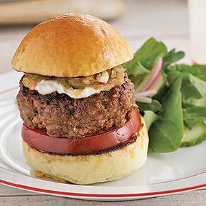 Grilled Lamb Sliders with Spicy Cucumber Slaw