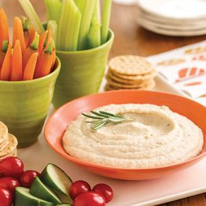 Lemon-Rosemary White Bean Dip