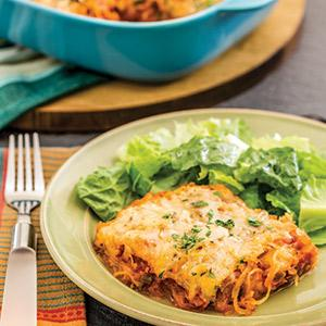 Spaghetti Squash-Sausage Casserole