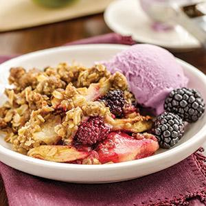 Apple-Blackberry Crisp