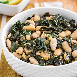 Zesty Collards and Beans