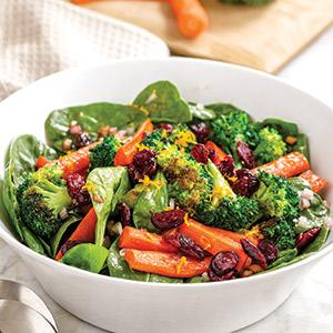 Roasted Vegetable Salad with Taste of Inspirations Cranberry Vinaigrette