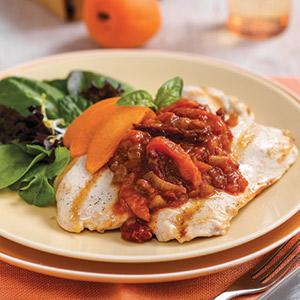 Tomato Apricot Grilled Chicken