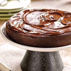 Chocolate Espresso Anniversary Torte with Bittersweet Glaze