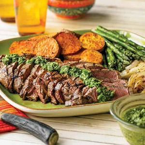 Top Sirloin with Chimichurri Sauce