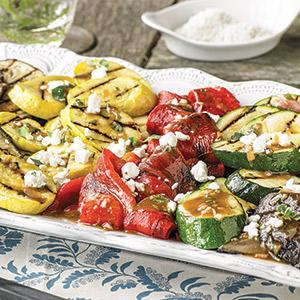 Mediterranean Vegetable Platter with Oregano Vinaigrette