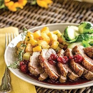 Duck Breasts with Maple Cranberry Sauce