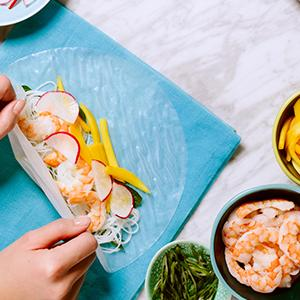 Shrimp and Mango Summer Rolls
