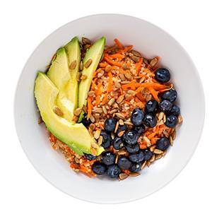 Carrot, Blueberry, and Avocado Grain Bowl