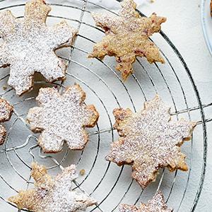 Shortbread Snowflake Cookies
