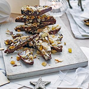 Tropical Dark Chocolate Bark