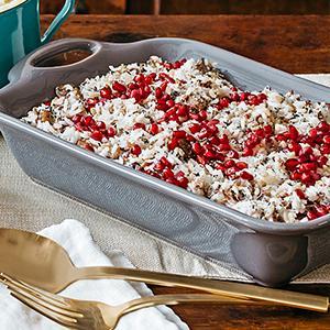 Mushroom-Pecorino Wild Rice Bake