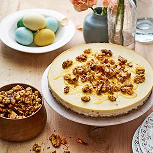 Goat Cheese Cake with Walnuts