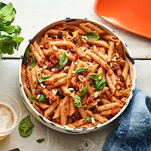 Pasta Salad with Red-Pepper Pesto