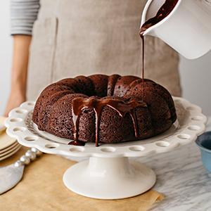 Lighter Chocolate Bundt Cake
