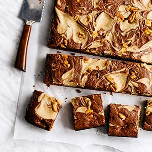 Maple-Walnut Swirl Brownies
