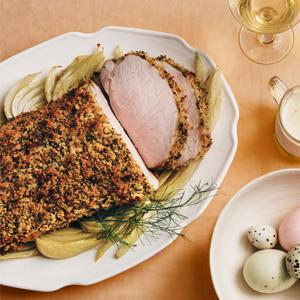 Breadcrumb-Crusted Pork Loin with Fennel