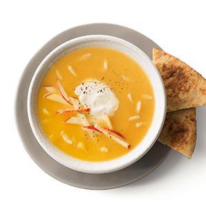 Butternut Squash Soup with Tahini Yogurt